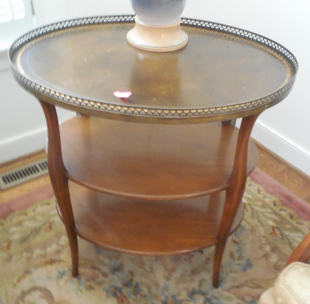 French Three Tier Side Table