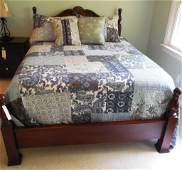 Contemporary Mahogany Queen Size Bed