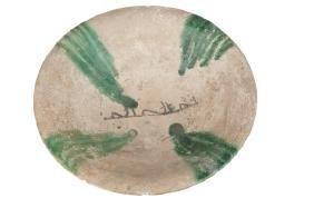 ABBASID TIN-GLAZED POTTERY BOWL