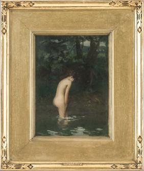 """IRVING RAMSEY WILES: """"THE BATHER"""""""