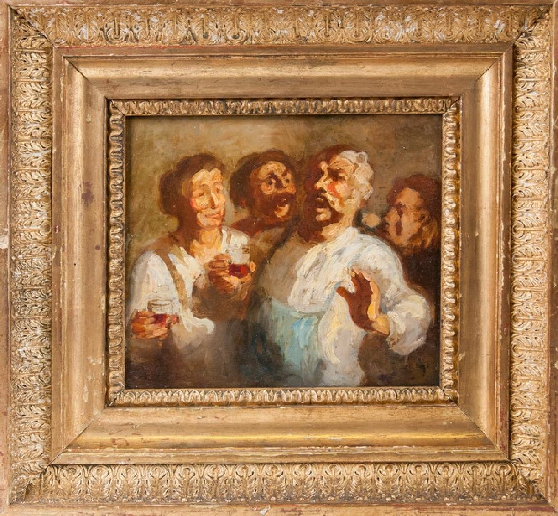 """ATTRIBUTED TO HONORE DAUMIER:  """"THE DRINKERS"""""""