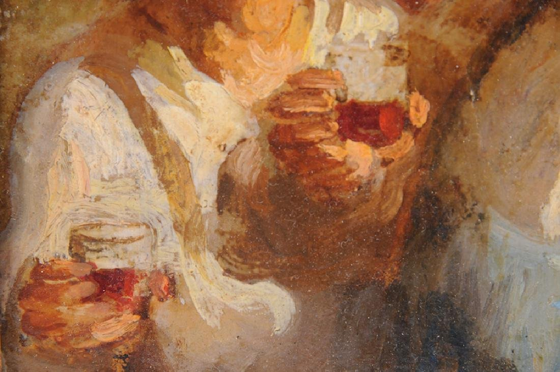 """ATTRIBUTED TO HONORE DAUMIER:  """"THE DRINKERS"""" - 4"""