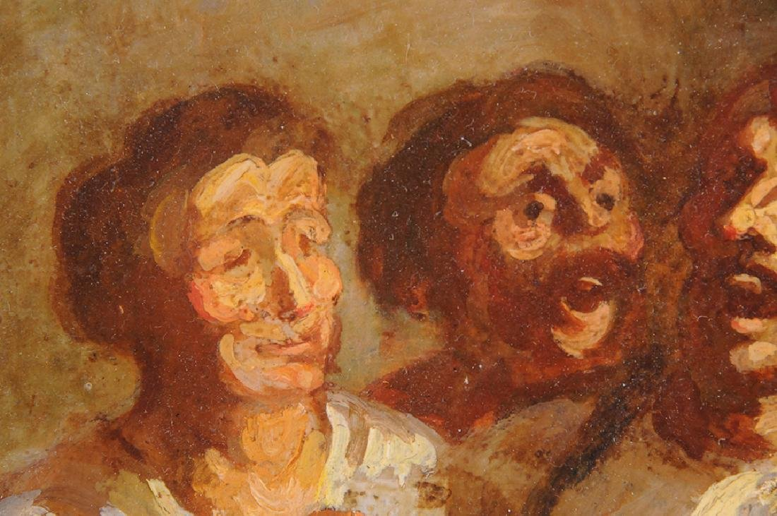 """ATTRIBUTED TO HONORE DAUMIER:  """"THE DRINKERS"""" - 5"""