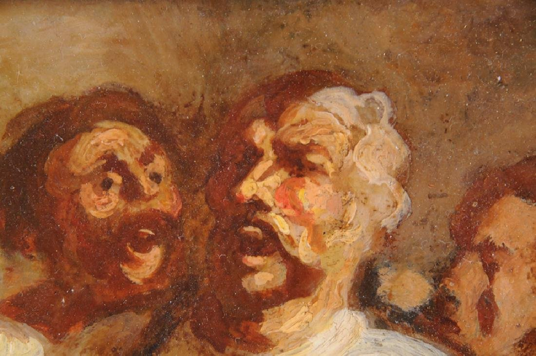 """ATTRIBUTED TO HONORE DAUMIER:  """"THE DRINKERS"""" - 6"""