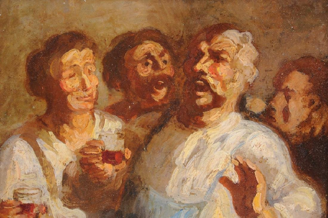 """ATTRIBUTED TO HONORE DAUMIER:  """"THE DRINKERS"""" - 7"""