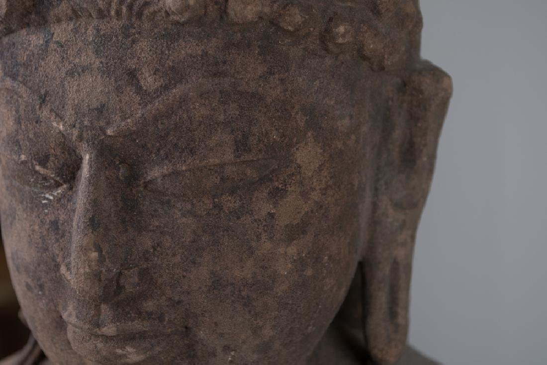 INDIAN SANDSTONE BUST OF BUDDHA - 3