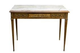FRENCH MARBLE TOP WRITING TABLE
