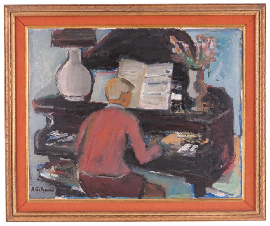 """CARL ADOLPH BUCHNER: """"FIGURE PLAYING PIANO"""""""