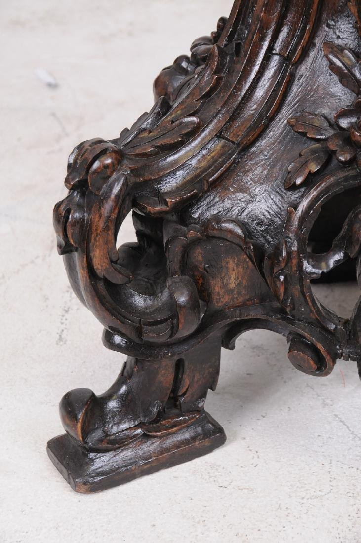 ITALIAN BAROQUE CARVED WALNUT TORCHIERE - 6