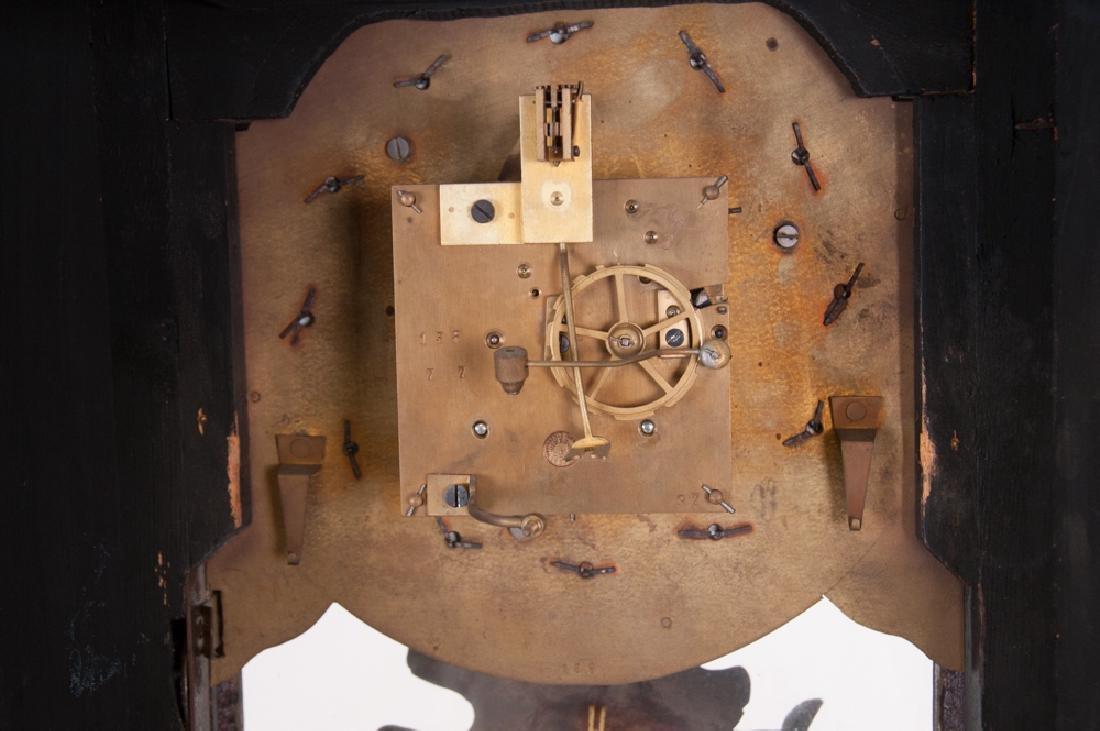 "LOUIS XIV STYLE ""BOULLE"" INLAID BRACKET CLOCK & BRACKET - 4"