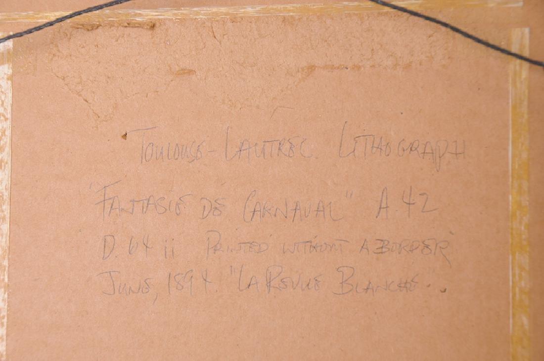 """HENRI TOULOUSE-LAUTREC: """"CARNAVAL"""" - 2"""