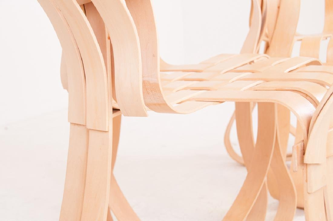 """SEVEN FRANK GEHRY MAPLE """"CROSS CHECK"""" CHAIRS - 10"""