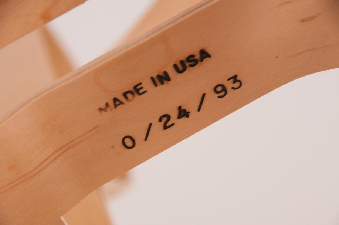 """SEVEN FRANK GEHRY MAPLE """"CROSS CHECK"""" CHAIRS - 2"""