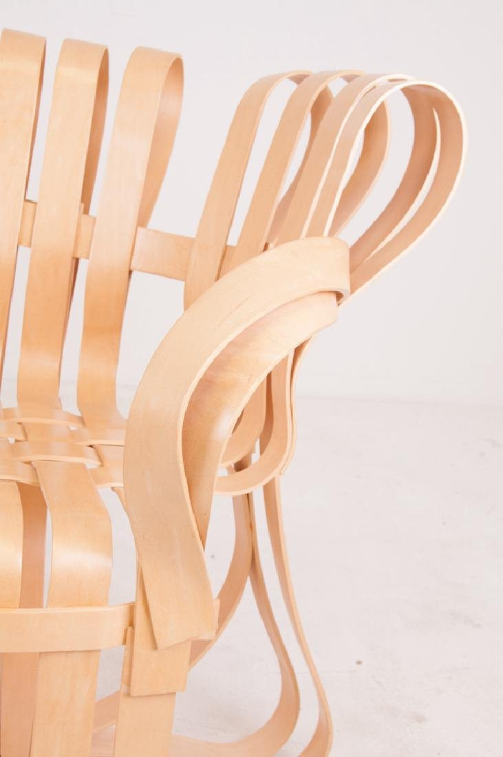 """SEVEN FRANK GEHRY MAPLE """"CROSS CHECK"""" CHAIRS - 4"""