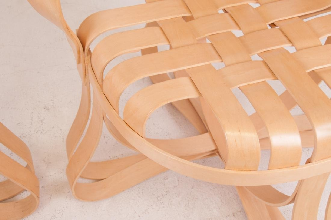 """SEVEN FRANK GEHRY MAPLE """"CROSS CHECK"""" CHAIRS - 6"""