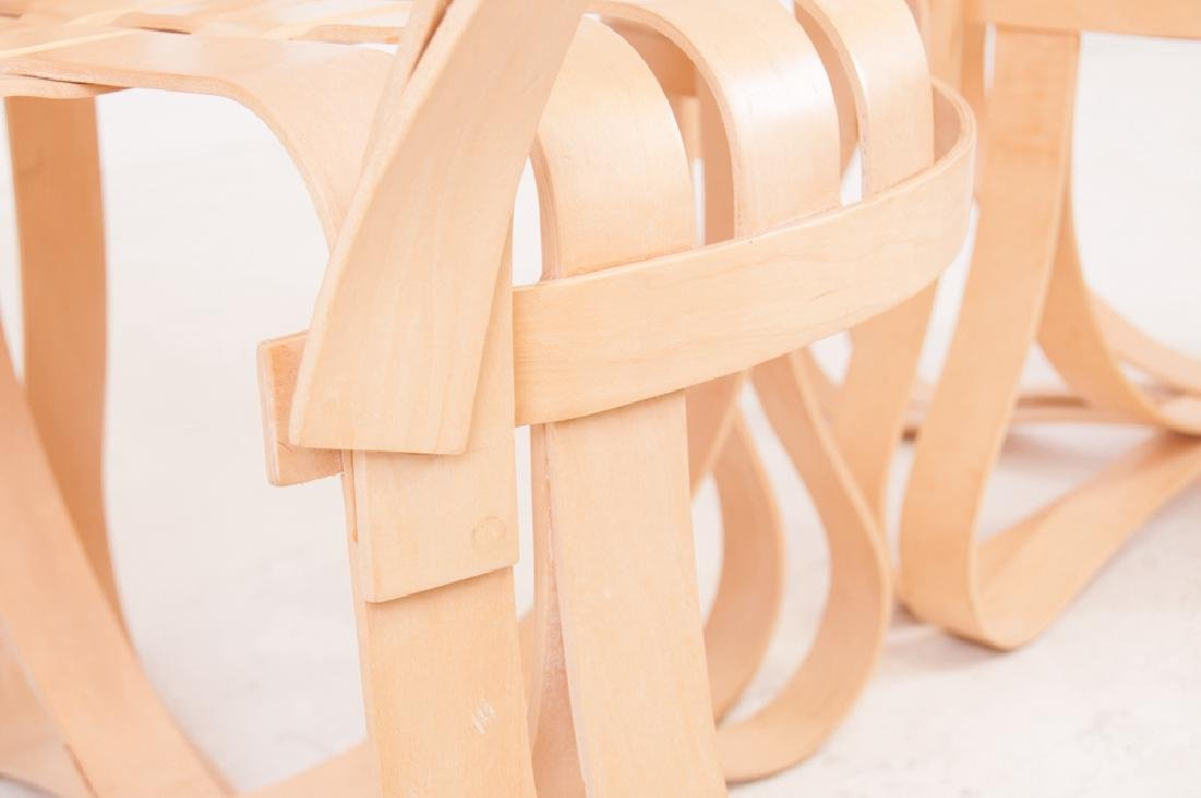 """SEVEN FRANK GEHRY MAPLE """"CROSS CHECK"""" CHAIRS - 7"""
