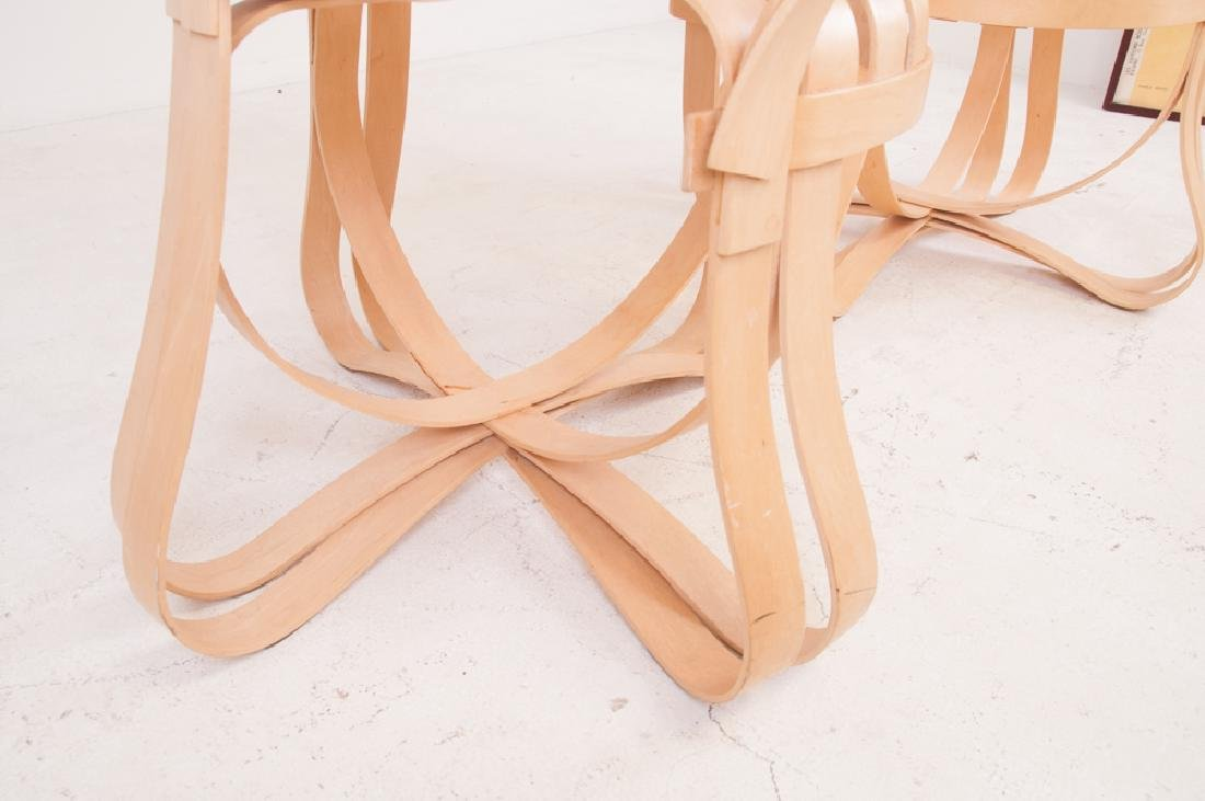 """SEVEN FRANK GEHRY MAPLE """"CROSS CHECK"""" CHAIRS - 8"""