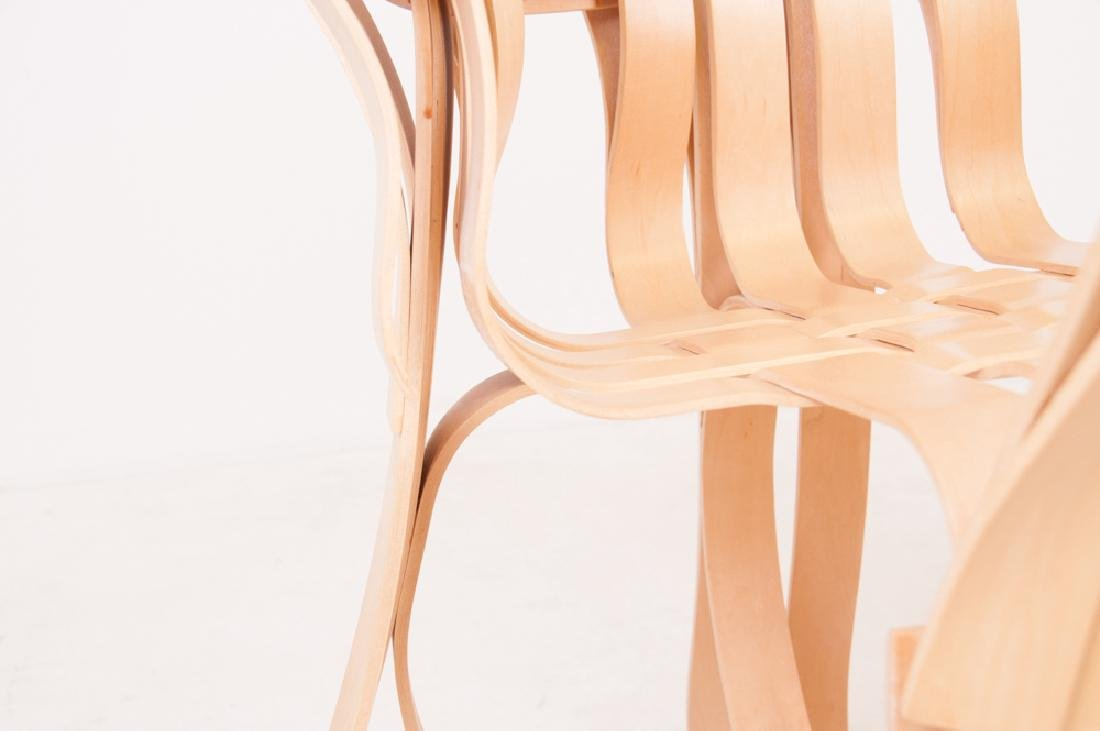 """SEVEN FRANK GEHRY MAPLE """"CROSS CHECK"""" CHAIRS - 9"""