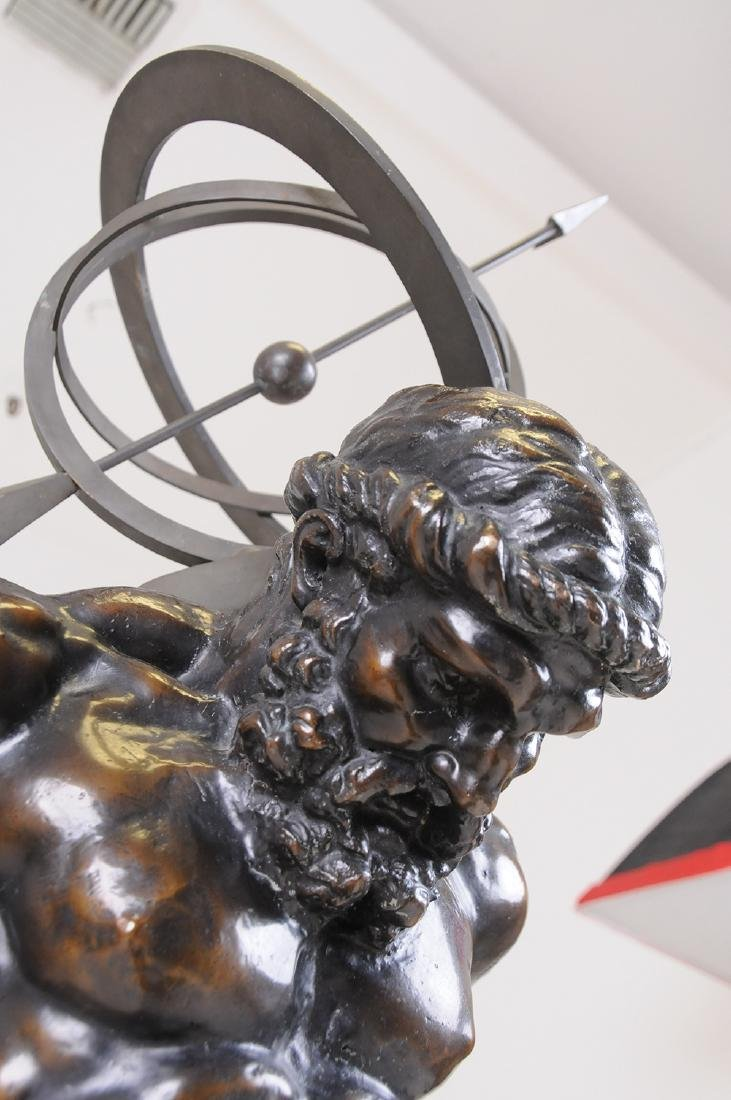 FRENCH BRONZE FIGURE OF ATLAS - 4