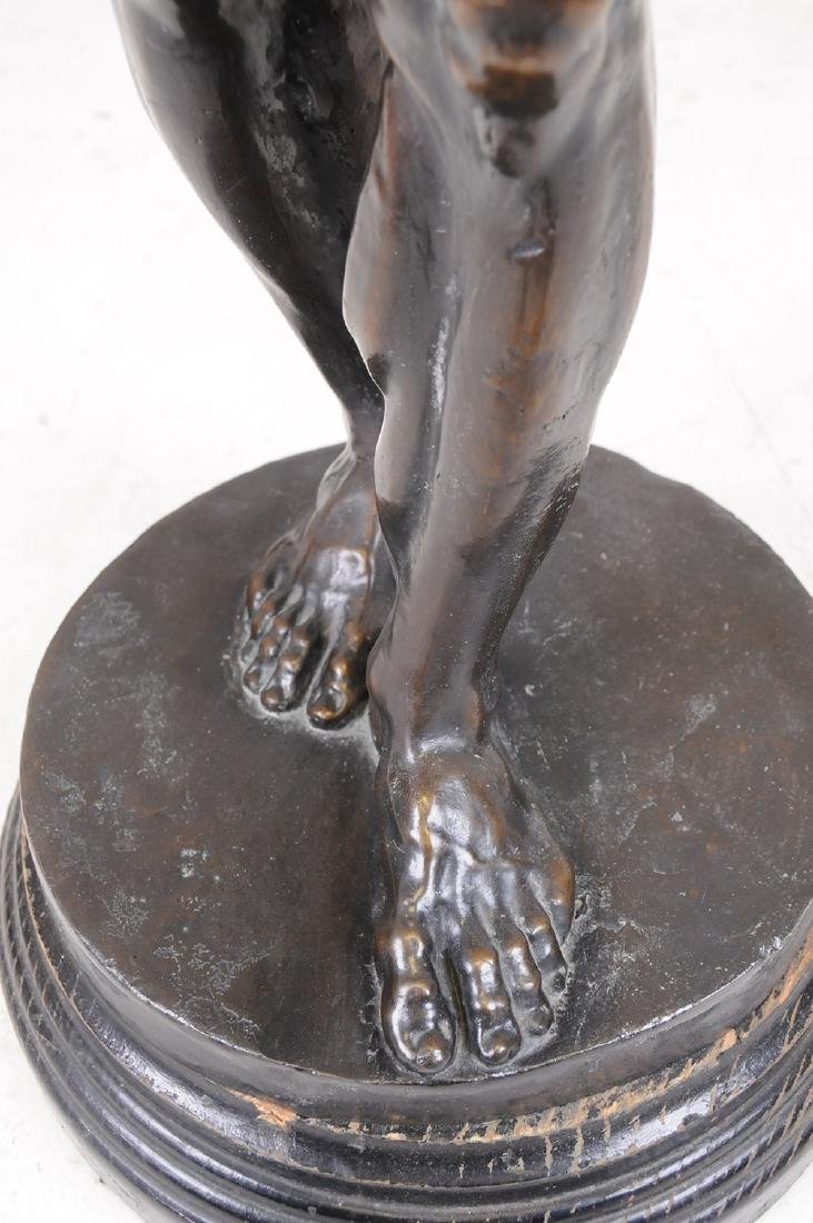 FRENCH BRONZE FIGURE OF ATLAS - 5