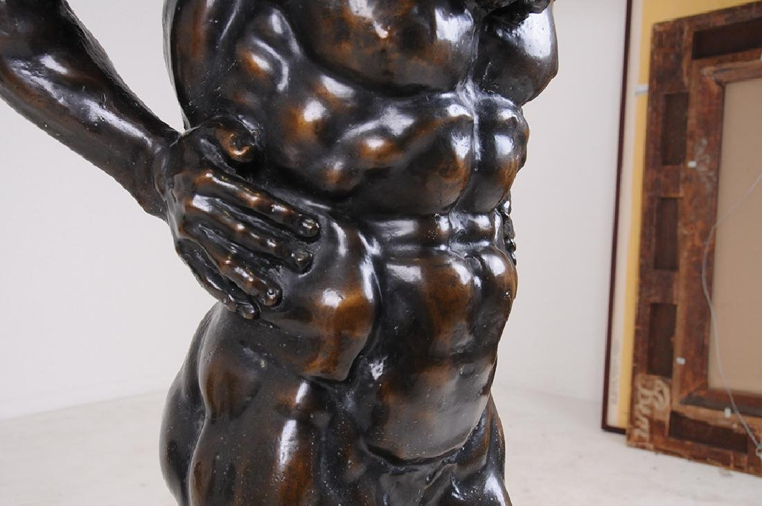 FRENCH BRONZE FIGURE OF ATLAS - 6