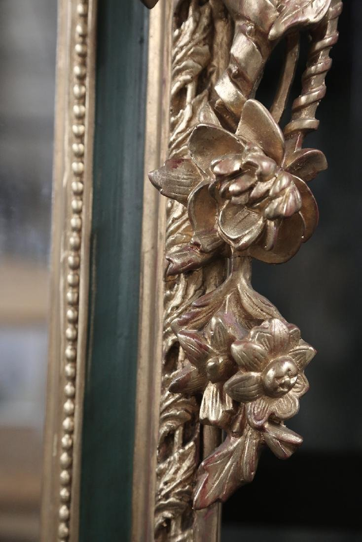 PAINTED & PARCEL GILT WALL MIRROR - 3