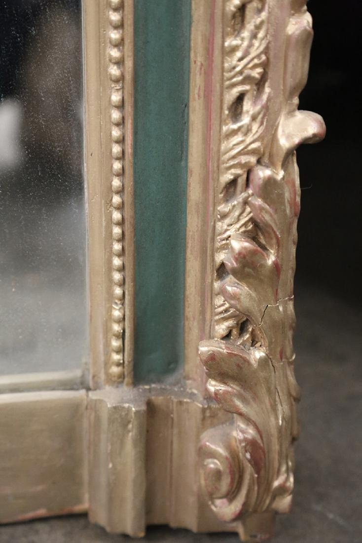 PAINTED & PARCEL GILT WALL MIRROR - 4
