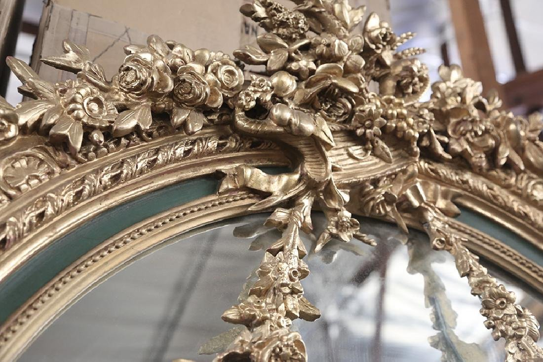 PAINTED & PARCEL GILT WALL MIRROR - 5