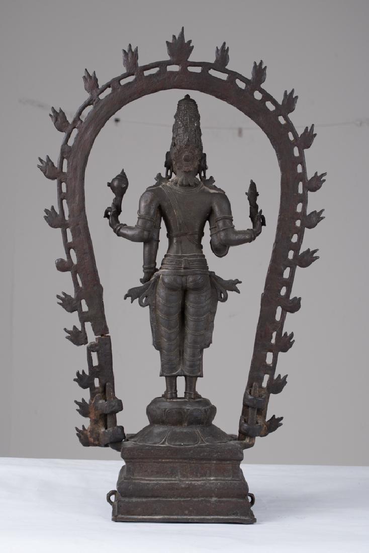 INDIAN BRONZE FIGURE OF VISHNU - 3