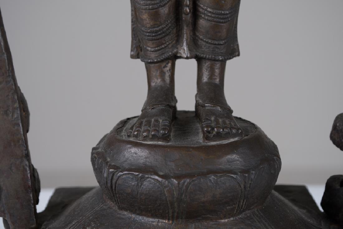 INDIAN BRONZE FIGURE OF VISHNU - 7