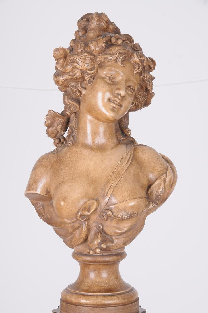 FRENCH TERRACOTTA BUST OF A MAIDEN - 2