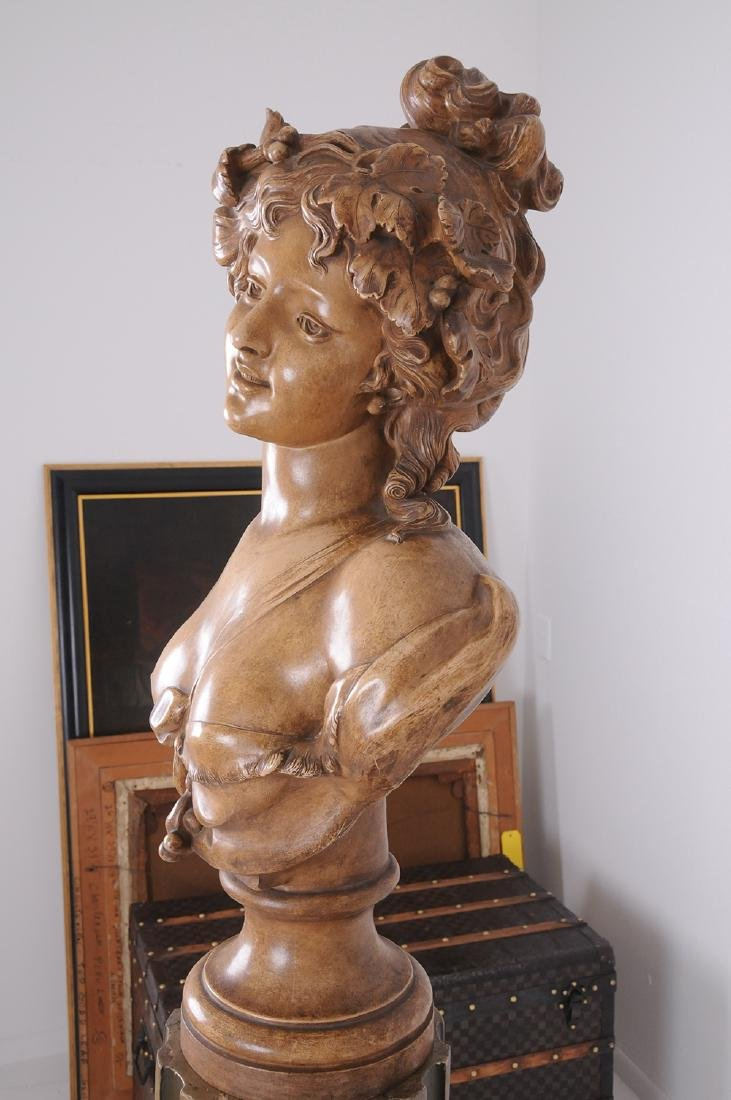 FRENCH TERRACOTTA BUST OF A MAIDEN - 3