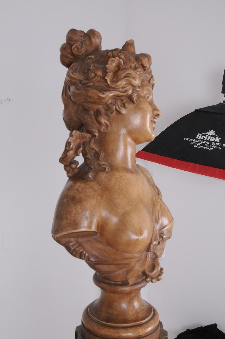 FRENCH TERRACOTTA BUST OF A MAIDEN - 5