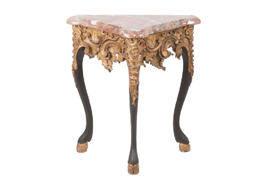 FRENCH NEOCLASSICAL MARBLE TOP CONSOLE