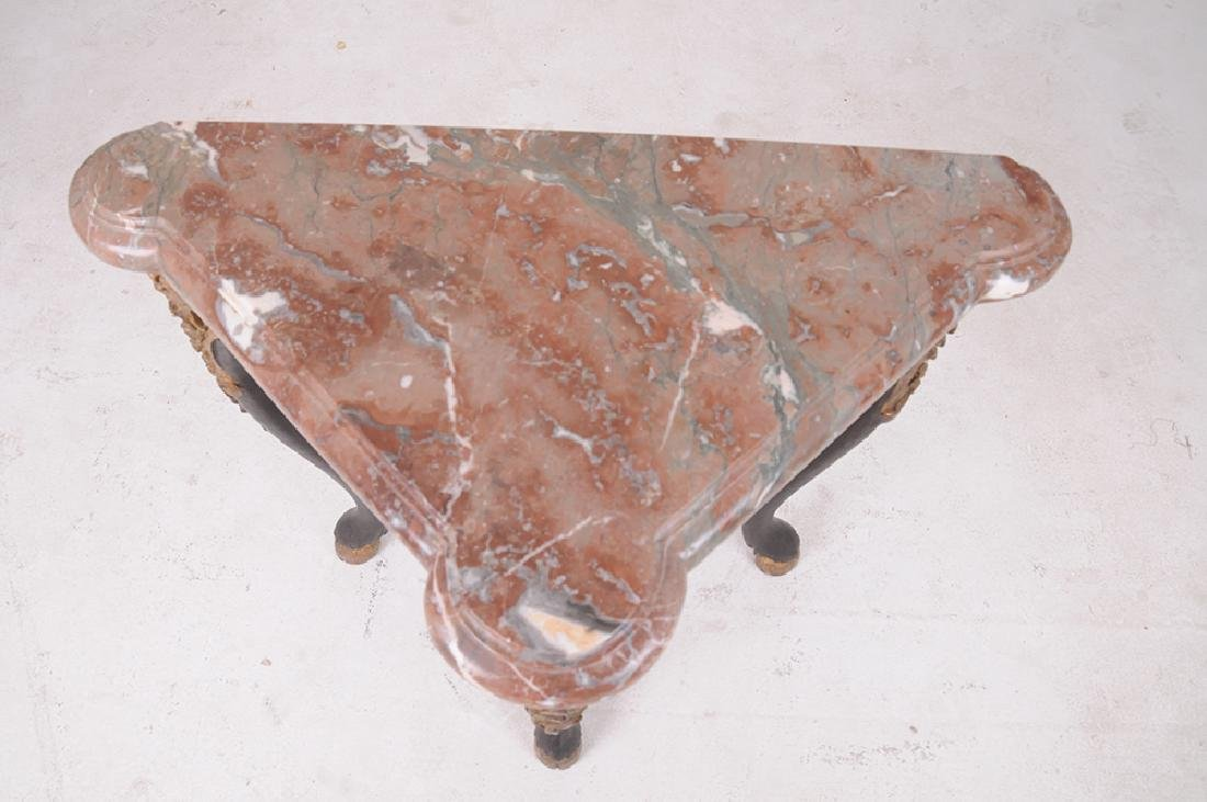 FRENCH NEOCLASSICAL MARBLE TOP CONSOLE - 2