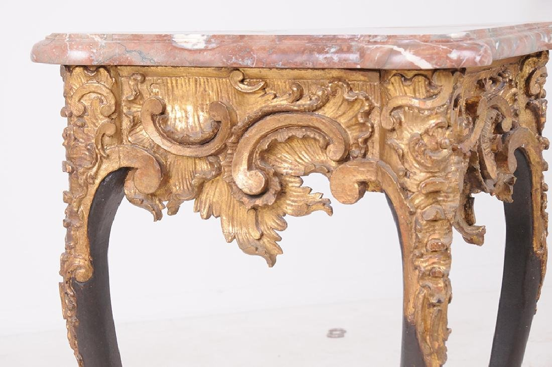 FRENCH NEOCLASSICAL MARBLE TOP CONSOLE - 6