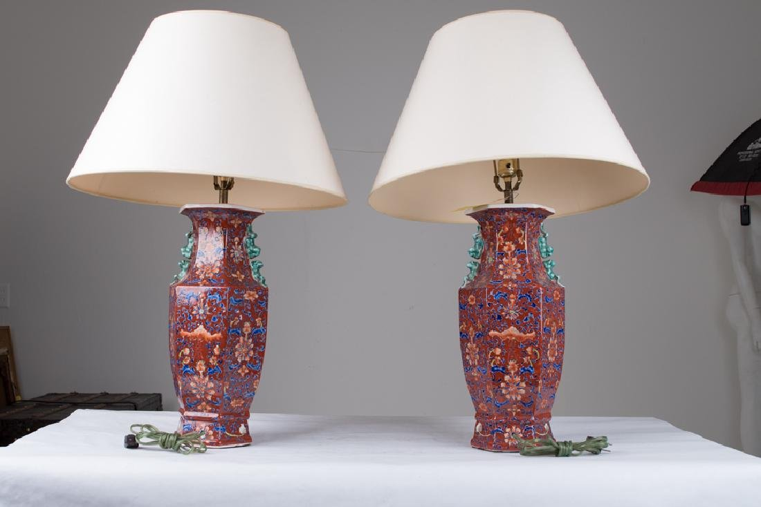 PAIR OF CHINESE PORCELAIN VASES - 7