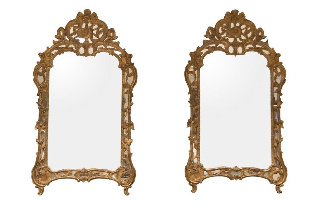 PAIR OF FRENCH GILTWOOD MIRRORS