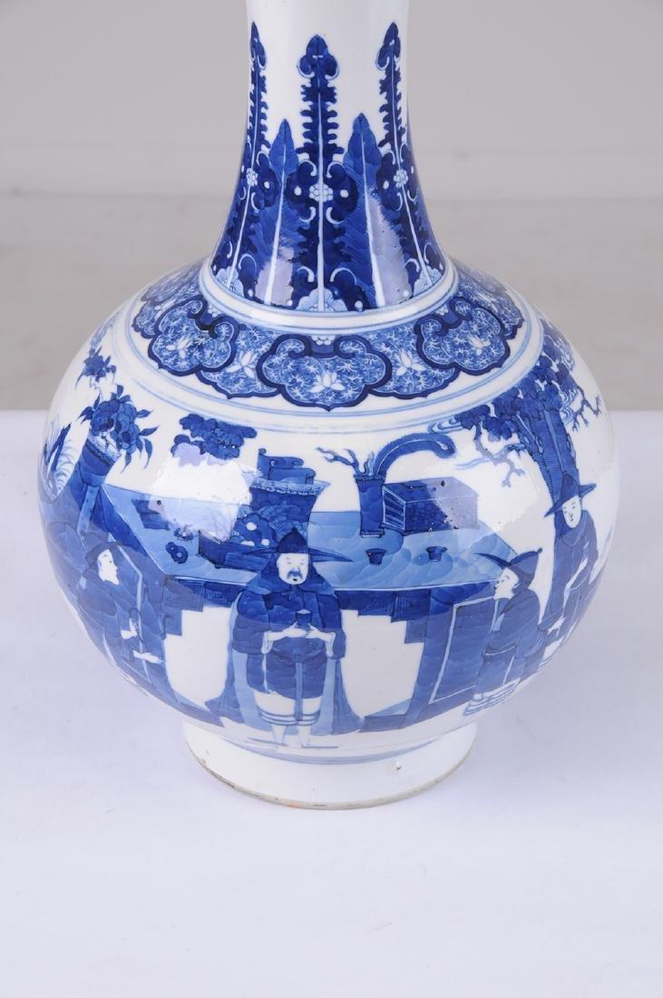 CHINESE BLUE & WHITE PORCELAIN VASE - 2
