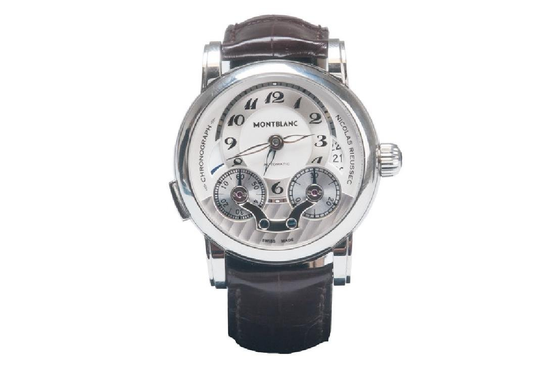 MONT BLANC STAINLESS STEEL NICOLAS RIEUSSEC MONOPUSHER