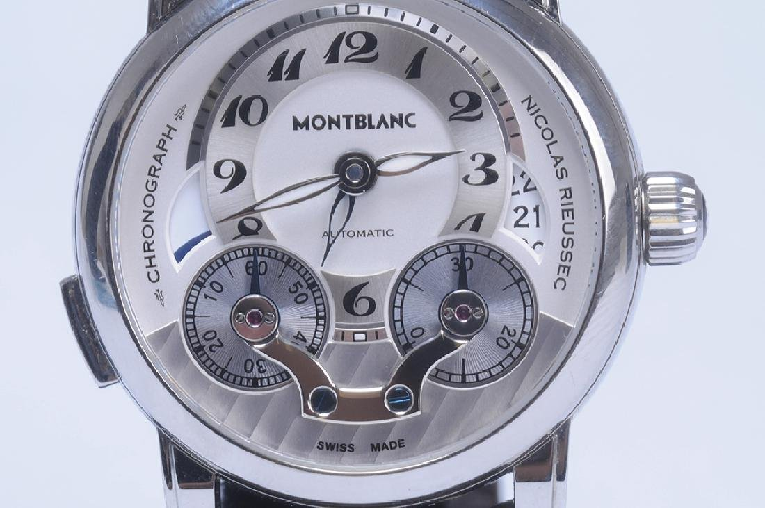 MONT BLANC STAINLESS STEEL NICOLAS RIEUSSEC MONOPUSHER - 2