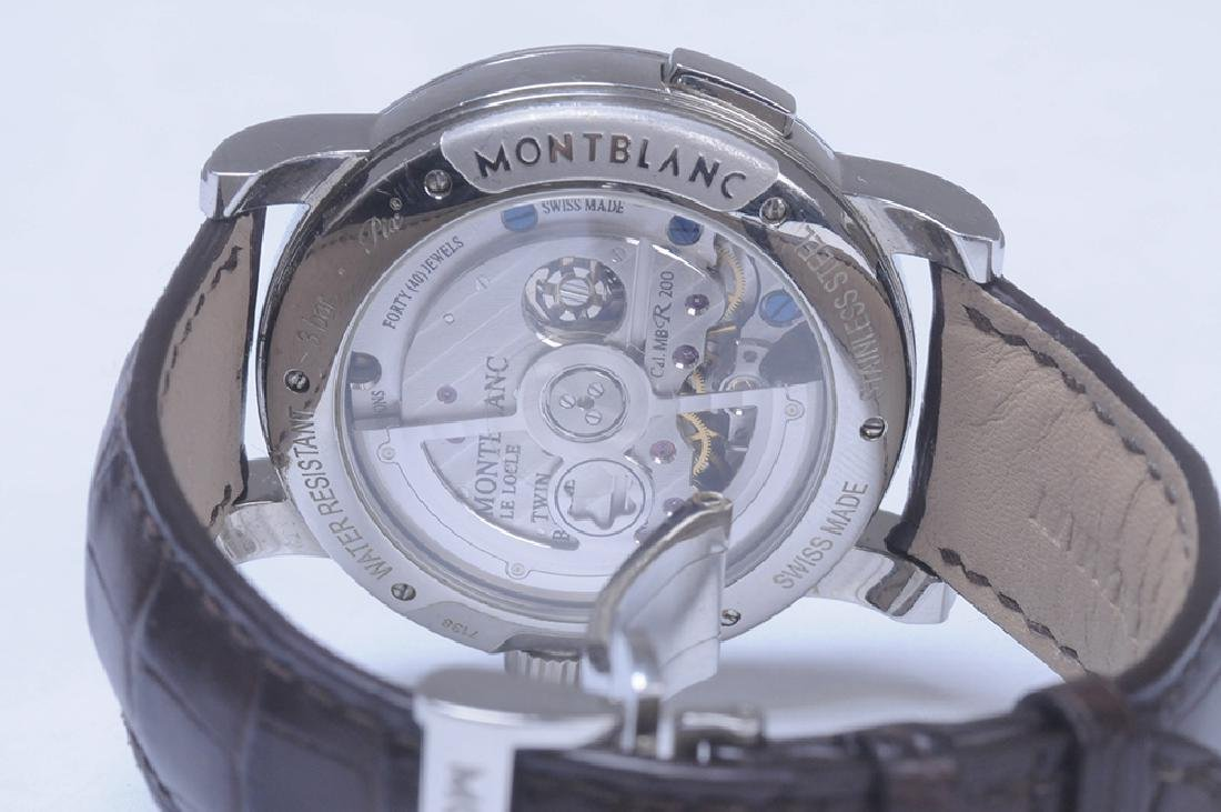 MONT BLANC STAINLESS STEEL NICOLAS RIEUSSEC MONOPUSHER - 7