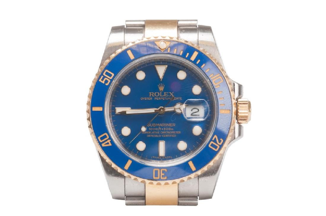 ROLEX 18 KARAT GOLD & STAINLESS STEEL SUBMARINER WATCH