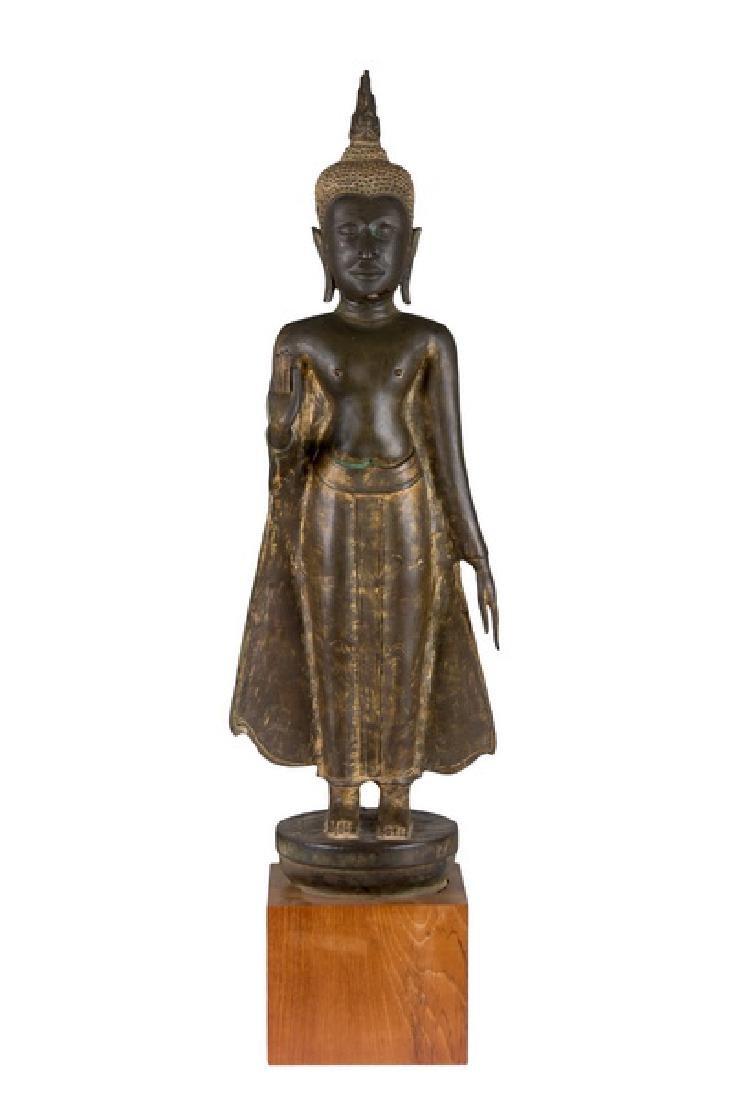 THAI BRONZE STANDING BUDDHA