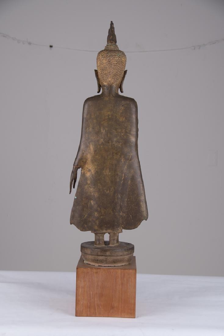 THAI BRONZE STANDING BUDDHA - 3