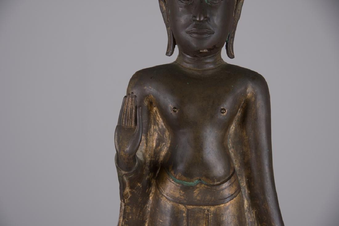 THAI BRONZE STANDING BUDDHA - 7