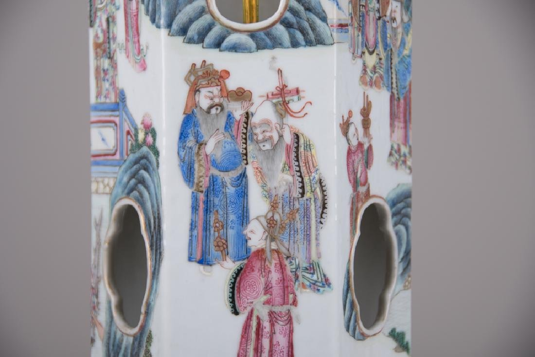 PAIR OF CHINESE PORCELAIN HAT STANDS - 4