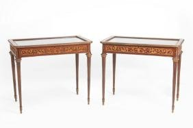 PAIR OF FRENCH ORMOLU-MOUNTED TABLE VITRINES