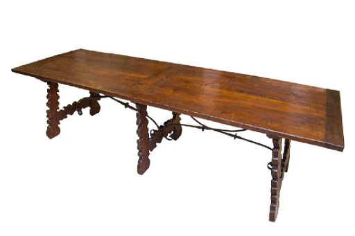 Wandplank 30 Diep.Spanish Walnut Refectory Table