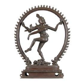 INDIAN BRONZE DANCING FIGURE OF SHIVA